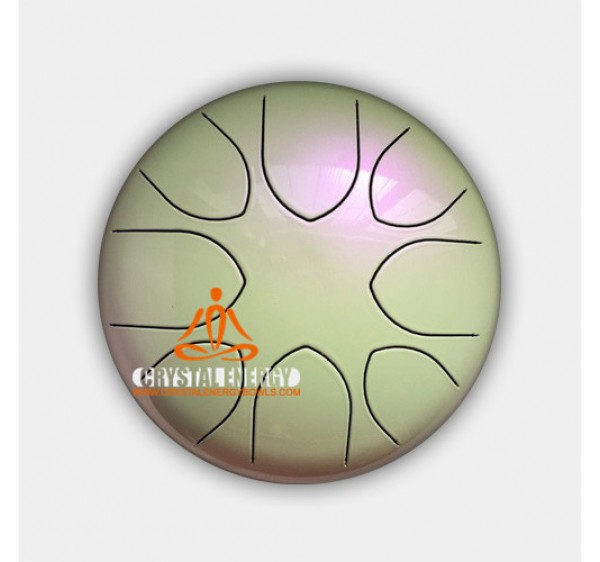 steel tongue drum pearl color 12 inch
