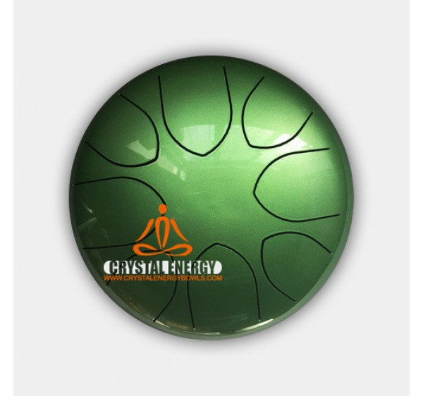 steel tongue drum green color 9 inch