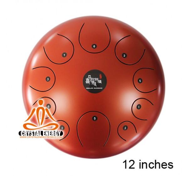 STEEL TONGUE DRUM MATT ORANGE COLOR 12 INCHES