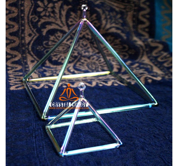 Cosmic rays crystal singing pyramid 12 inch