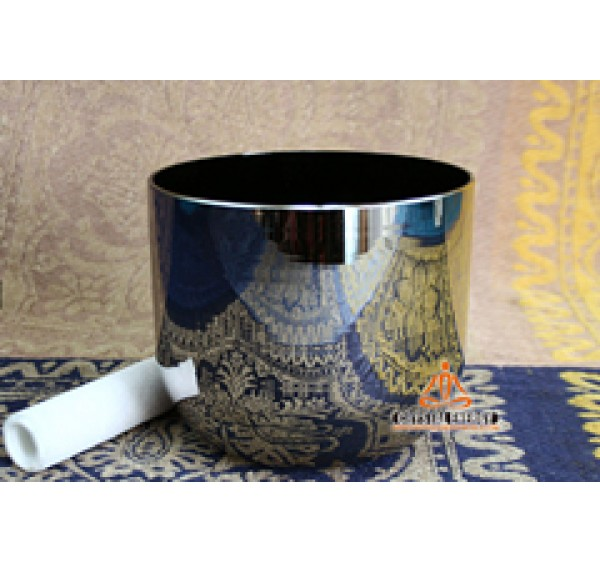 Silvery color crystal singing bowls with perfect chakra tones
