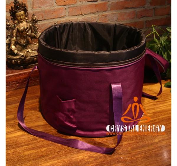 crystal singing bowls bag purple color 14 inch