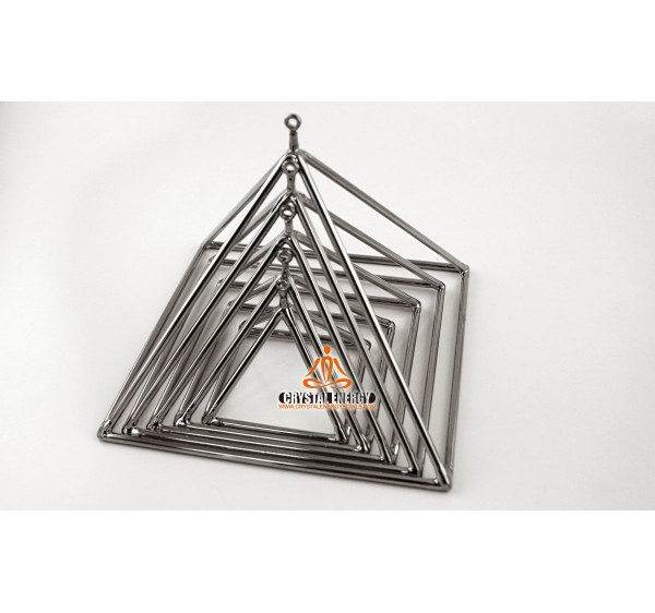 Silver color crystal singing pyramid 9 inch